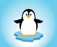 Pinguin auf Eis Lizenzfreie Stockbilder