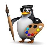 Pinguin 3d ist ein großer Künstler Lizenzfreie Stockfotografie