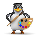 Pinguin des Künstlers 3d Lizenzfreie Stockfotos