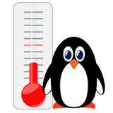 Pinguin des Thermometers. Lizenzfreies Stockbild
