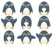 Pinguin Emoticons Stockfoto