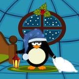 Pinguin geht zu schlafen Stockfotos