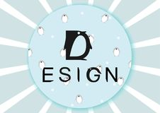 Pinguin-Logo Stockbild