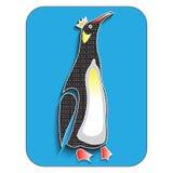 Pinguin, lokalisiert, Vektorillustration Lizenzfreie Stockfotografie