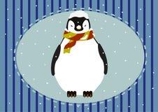 Pinguin-Schnee Lizenzfreie Stockfotos