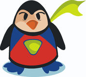 Pinguin-Superheld Stockfotografie