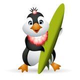 Pinguin-Surfer Stockbilder