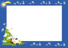 Pinguin-Weihnachtskennsatz Stockfotos