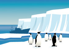 Pinguine in Antarktik stock abbildung