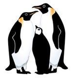 Pinguinfamilie stock abbildung