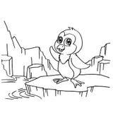 Pinguini che colorano vettore delle pagine royalty illustrazione gratis