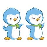 Pinguini del fumetto Immagine Stock