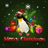 Pinguini di Natale Fotografia Stock Libera da Diritti
