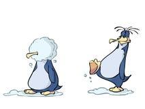 Pinguini divertenti Fotografie Stock