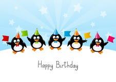 Pinguini divertenti Fotografie Stock Libere da Diritti