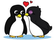 Pinguini nell'amore Fotografia Stock Libera da Diritti