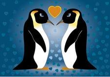 Pinguini nell'amore Immagine Stock Libera da Diritti