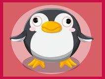 Pinguinkarikatur Lustige Karikatur- und vektortierzeichen Lizenzfreies Stockbild