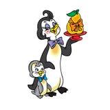 Pinguinmutter und Schätzchen-Pinguin vektor abbildung
