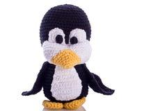 Pinguino bianco Immagini Stock
