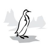 Pinguino in bianco e nero royalty illustrazione gratis