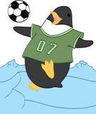 Pinguino che gioca calcio Fotografia Stock Libera da Diritti