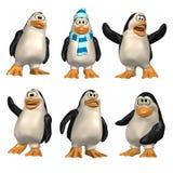 Pinguino del fumetto Fotografia Stock Libera da Diritti