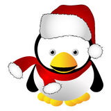 Pinguino di natale Fotografia Stock Libera da Diritti