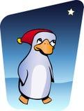 Pinguino di natale Fotografia Stock
