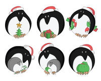 Pinguino di Natale con i regali Fotografia Stock Libera da Diritti