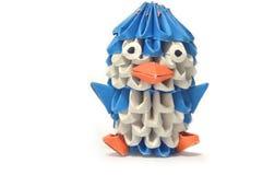 Pinguino di origami Fotografia Stock