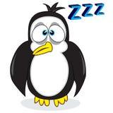 Pinguino di sguardo sonnolento sveglio Immagini Stock Libere da Diritti