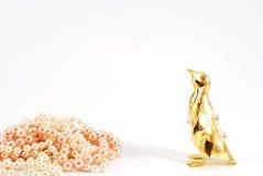 Pinguino dorato Fotografia Stock