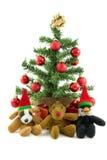 Pinguino e renna del cane di Natale Immagine Stock