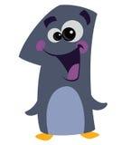 Pinguino sorridente del fronte di numero 1 royalty illustrazione gratis