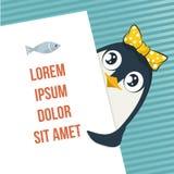 Pinguino sveglio Fotografia Stock