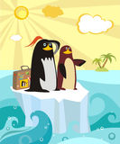Pinguins Illustration de Vecteur