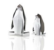 Pinguins de Origami foto de stock