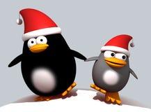 Pinguins do Natal Fotos de Stock