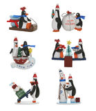 Pinguins do Natal Imagem de Stock