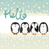 Pinguins dos desenhos animados do vetor Imagem de Stock Royalty Free