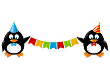 Pinguins engraçados Fotos de Stock