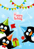 Pinguins engraçados Fotos de Stock Royalty Free