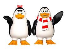 Pinguins felici Fotografia Stock