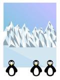 Pinguins na Antártica Imagens de Stock