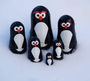 Pinguins na neve Imagem de Stock Royalty Free