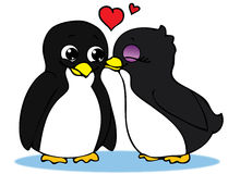 Pinguins no amor Foto de Stock Royalty Free