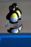 Pinguins no gelo Imagem de Stock