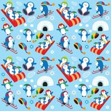 Pinguintapete Stockfotografie
