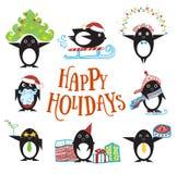 Pinguinzeichentrickfilm-figur Lizenzfreies Stockfoto